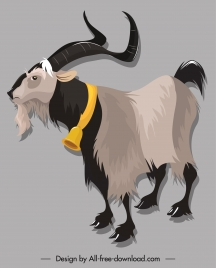 herviborous antelope icon cartoon sketch