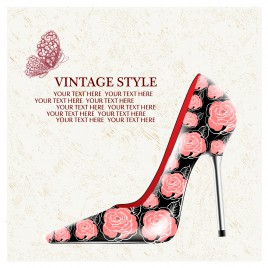 high heels decor with rose