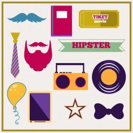 hipster design element
