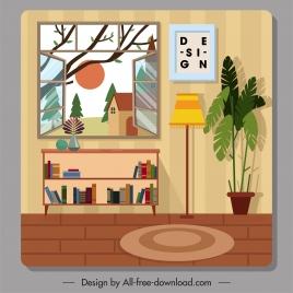 home decor template colorful classic design
