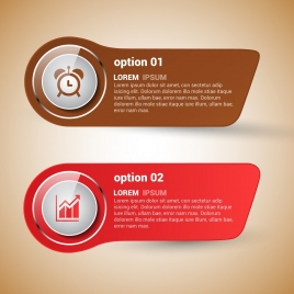 horizontal infographics template shiny colored flat rounded design