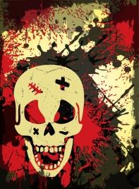 horror skull background grunge style decoration
