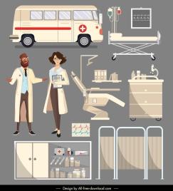 hospital design elements doctor ambulance medical device sketch