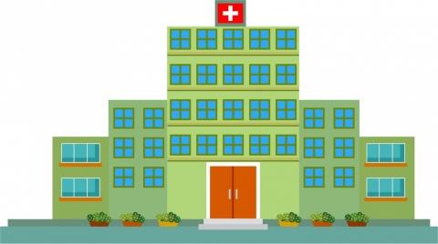 hospital design sketch in green color