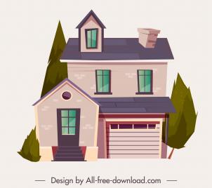 house architecture icon elegant contemporary design