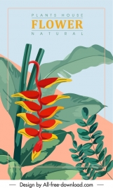 houseplant background colorful classic design