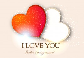 i love you two heart valentine background