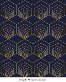 illusion pattern repeating symmetric polygonal shapes