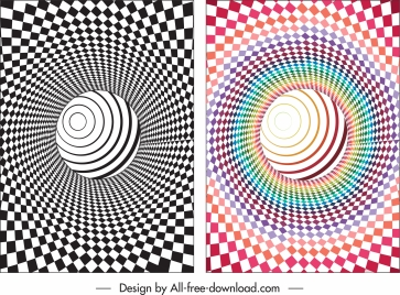 illusive backgrounds spiral twisted swirled shapes