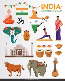 india design elements national emblems sketch