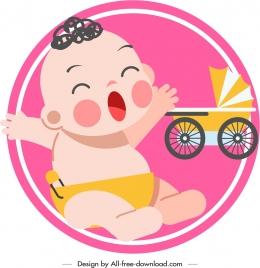 infant baby icon cute cartoon sketch