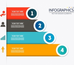 infographic background colorful horizontal bar chart
