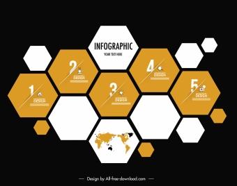 infographic background geometric honeycomb shapes