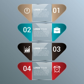 infographic design colored modern shapes style