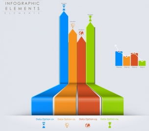 infographic design elements colorful 3d bars decor