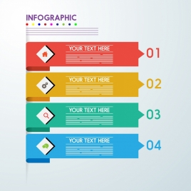 infographic design elements colorful horizontal bar design