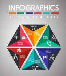 infographic design elements colorful triangles layout