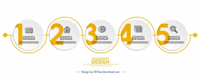 infographic design elements elegant flat circles connection sketch