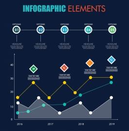 infographic design elements lines dots circles decor