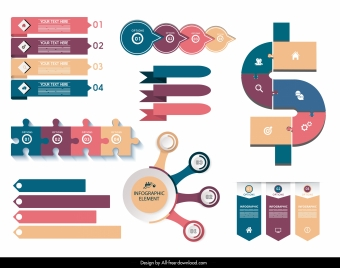 infographic design elements modern colorful flat design