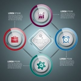 infographic design elements modern shiny geometry style