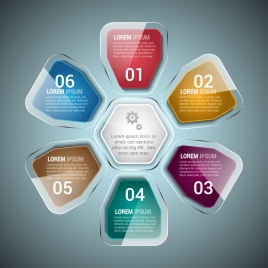 infographic design elements shiny transparent colorful geometry style