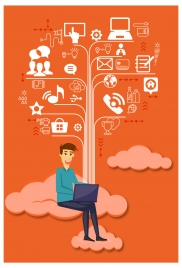 infographic design with human and tree chart illustration