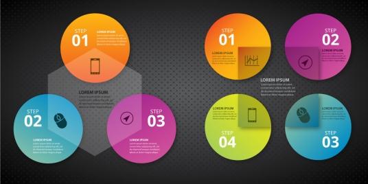infographic diagram design with vignette geometric background
