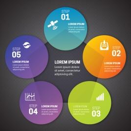 infographic illustration with geometric design