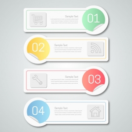 infographic illustration with horizontal labels design