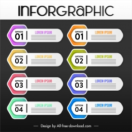 infographic poster template modern horizontal mock up shapes