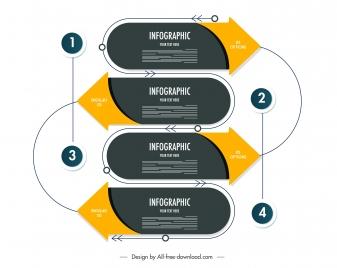 infographic template modern design symmetric repeated decor