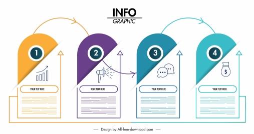 infographic template vertical sticker shapes modern design