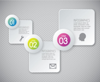 infographic vector design with 3d squares and circles