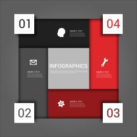infographic vector design with rectangulars and square arrangement