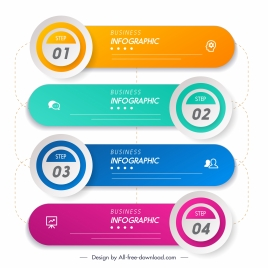 inforgraphic elements modern flat colorful horizontal shapes