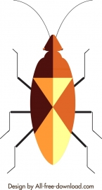 insect background beetle icon closeup geometric design