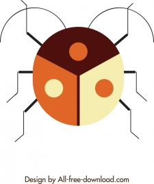 insect background bug icon geometrical circle design
