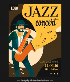 jazz concert poster trumpet performer sketch colorful classic