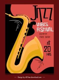 jazz festival poster classical dark instruments sketch