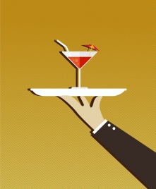 juice cocktail theme design hand carrying decoration