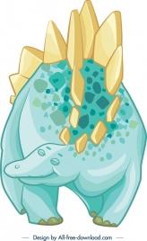 jurassic animal icon cute colored cartoon sketch