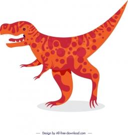 jurassic background tyrannosaurusrex icon colored cartoon sketch