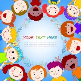 kids background circle layout colorful decoration