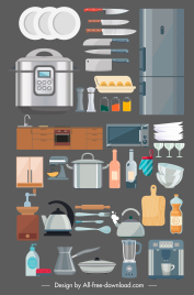 kitchen design elements devices objects sketch