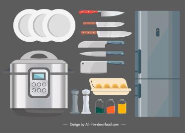 kitchen design elements modern flat sketch