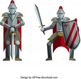 knight icons vintage armor decor