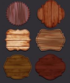 labels templates retro wooden design