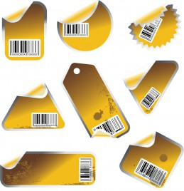 Labels with bar codes