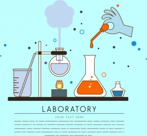 laboratory background chemistry experiment icons